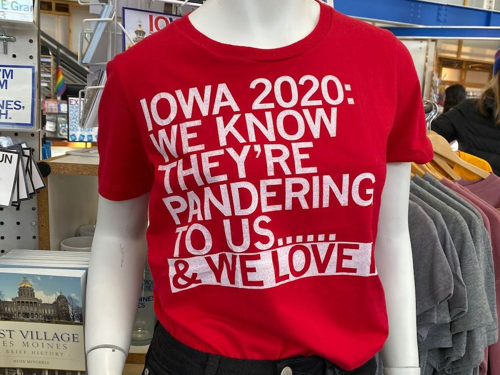 <p>A t-shirt at Raygun, a popular local store in Des Moines.</p>