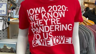 A t-shirt at Raygun, a popular local store in Des Moines.