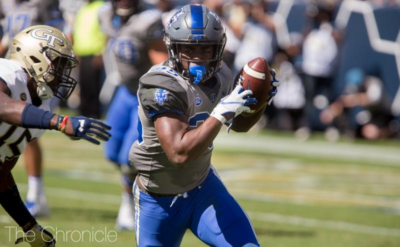 Deon Jackson's career-high 98 yards propelled the Blue Devils past the Yellow Jackets.
