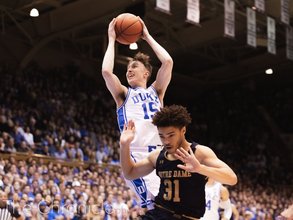 Alex O'Connell scored 12 points against Notre Dame, including two huge second-half threes