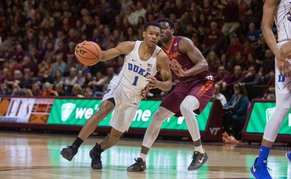 <p>Trevon Duval missed the front end of a one-and-one with Duke clinging to a one-point lead and less than a minute remaining.</p>