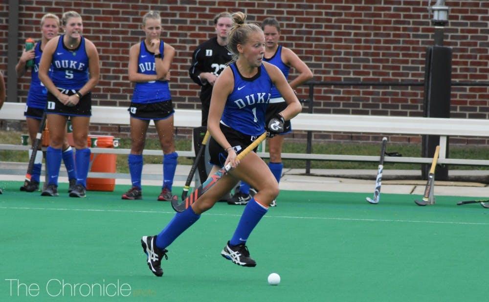 <p>Junior Erin Scherrer scored two goals Sunday and now has five goals in Duke's last five games.</p>