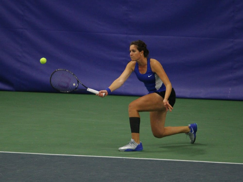 Senior Ester Goldfeld led the Blue Devils by winning her fifth straight match and is now one away from capturing win No. 100.