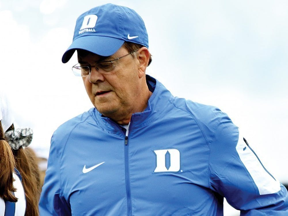 Head coach David Cutcliffe has had to deal with a number of serious injuries to starting Blue Devils throughout the season.