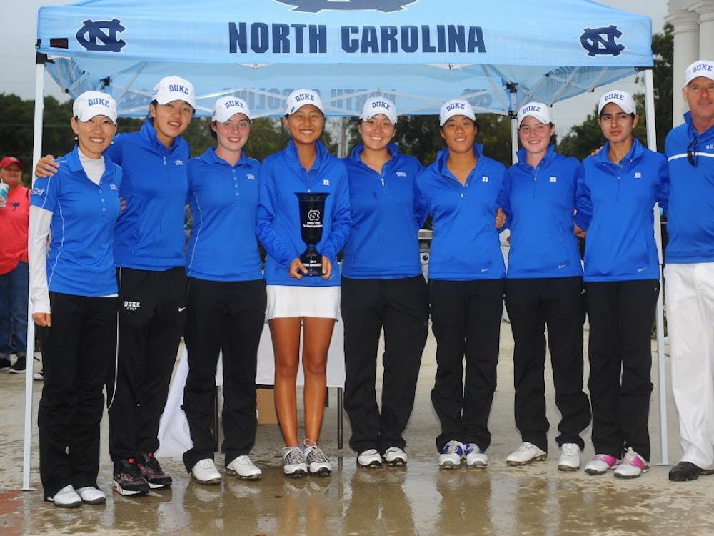 12 October 2014: Duke finishes at -2 with a team score of 862 (288/286/288) to win the 2014 Ruth Chris Tar Heel Invitational Sunday afternoon at  UNC Finley Golf Course in Chapel Hill, North Carolina. Credit - Tim Cowie - TimCowiePhotography.com