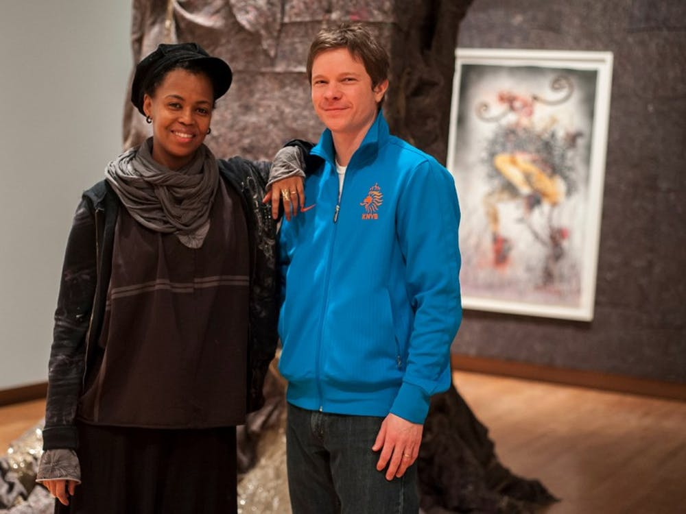 Trevor Schoonmaker (right), new curator of Duke's Nasher Museum of Art, hopes to bring some inspiration from his nationally touring exhibits to the corner of Campus and Alexander.