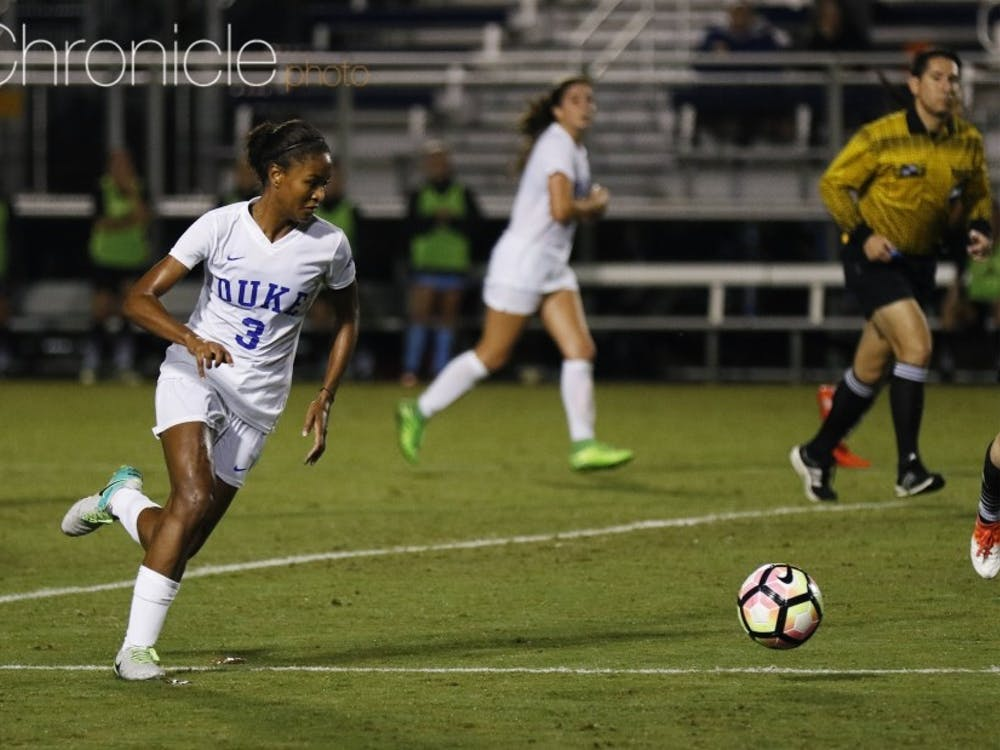 Imani Dorsey scored her second goal in two games to seal the Blue Devils' victory Friday.