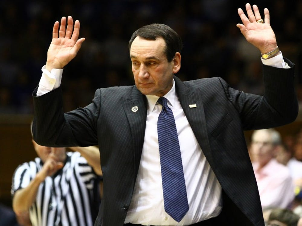 Columnist Andrew Beaton writes that head coach Mike Krzyzewski could use a doghouse for Christmas this year.