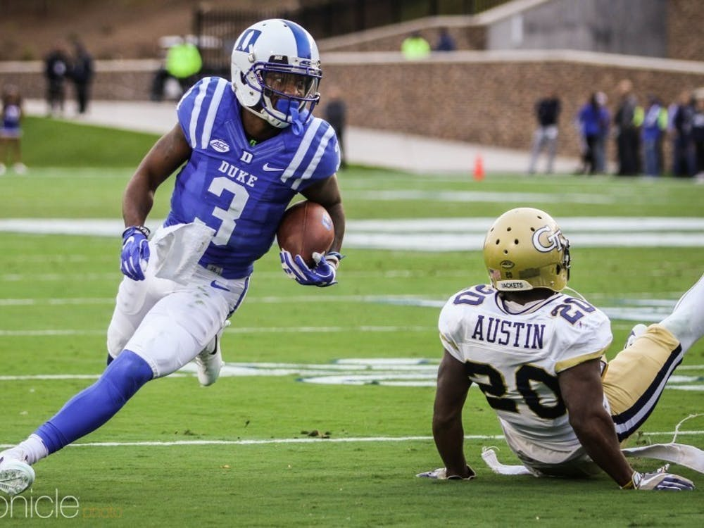 The departure of pass-catchers like T.J. Rahming left Duke with a lot of holes to fill at wide receiver, where Jake Bobo was expected to step up.