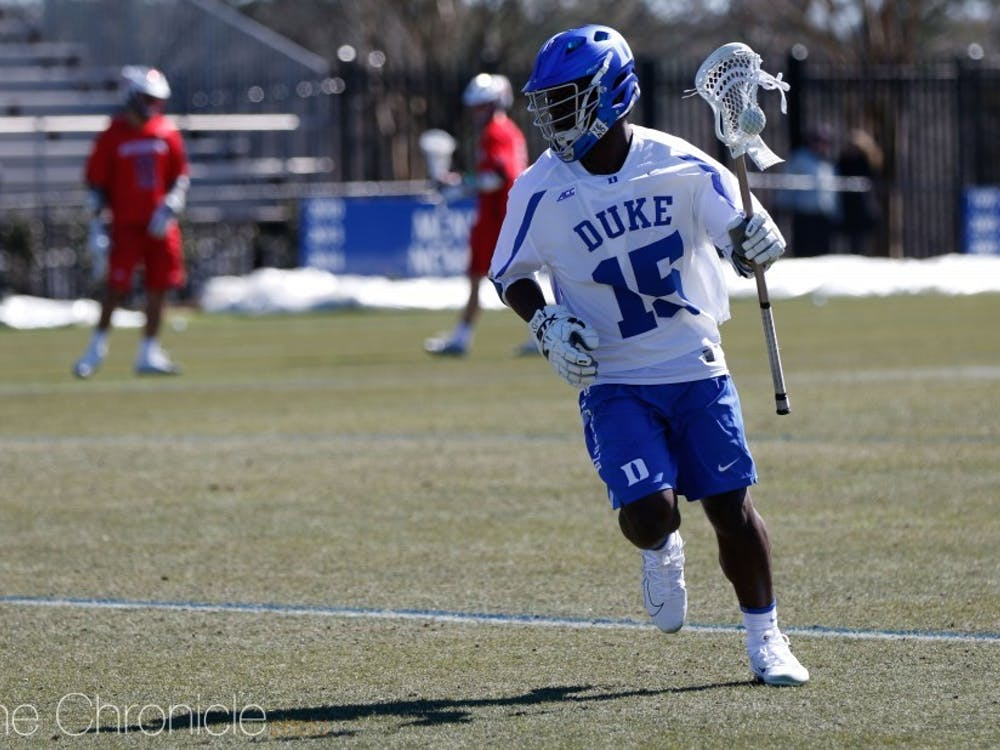 Nakeie Montgomery led Duke's offensive attack against Richmond Sunday.