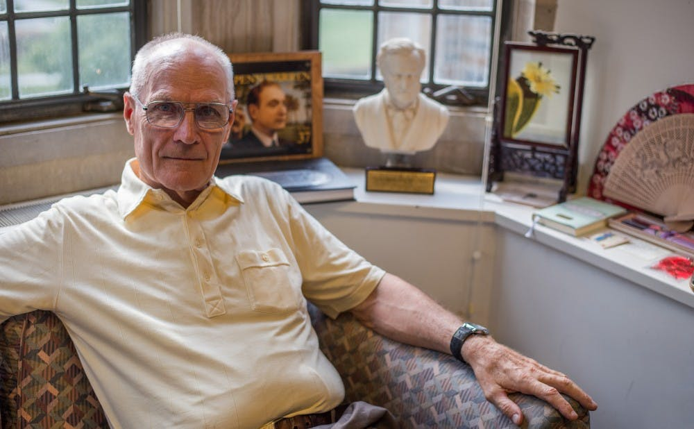 <p>Victor Strandberg has been teaching at Duke for over 50 years.</p>