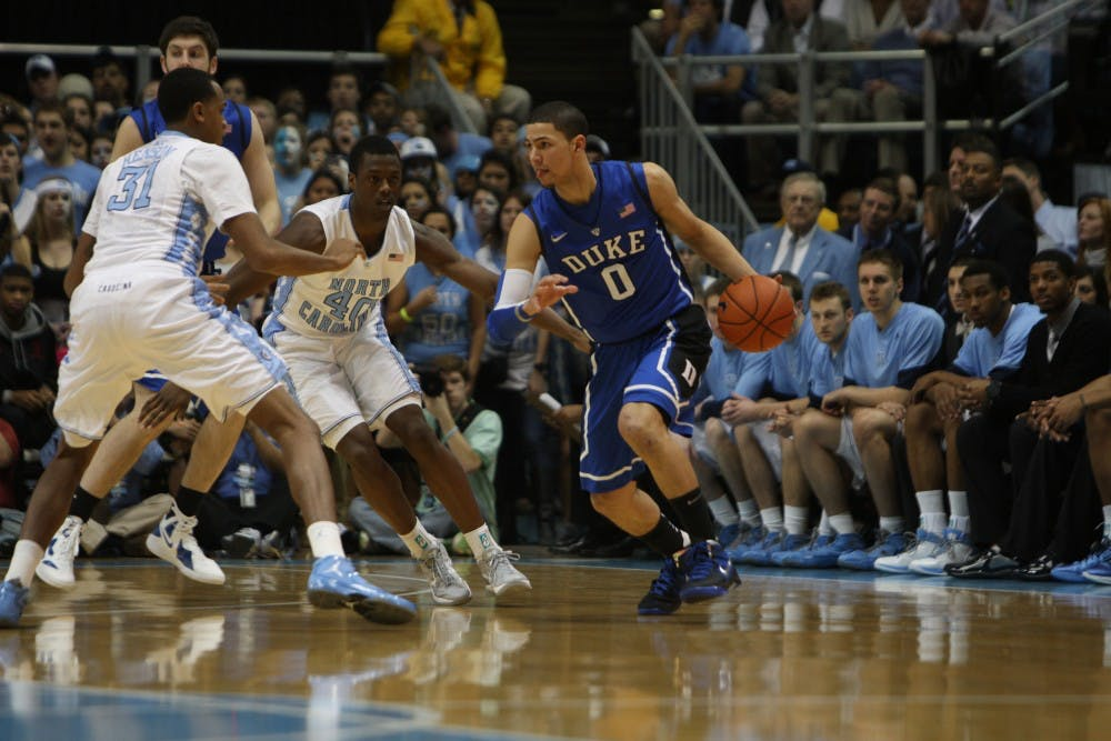 <p>Austin Rivers capped a late run with a buzzer beater in 2012.</p>