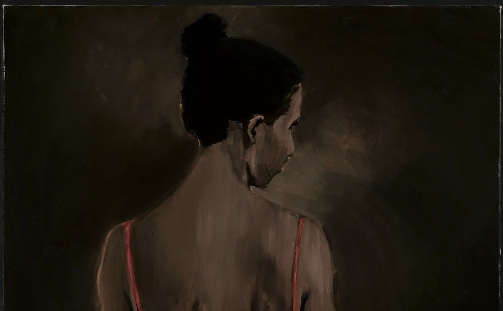 """Lynette Yiadom-Boakye's """"Places to Love For"""" is featured in """"Solidary & Solitary: The Joyner/Giuffrida Collection,"""" which opened Thursday and will run through July 15."""