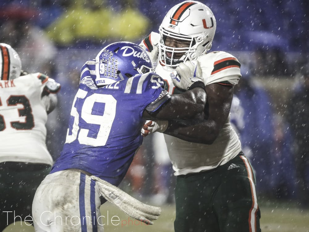 The Duke football team beat Miami to close out the regular season at home on Saturday, Nov. 30, 2019.