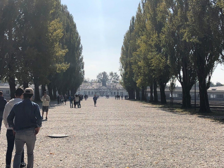 The entrance to Dachau