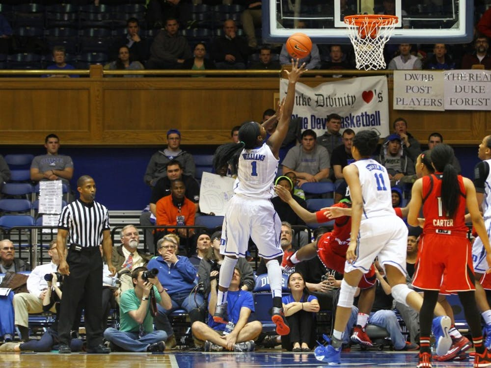 Senior center Elizabeth Williams posted 18 points, eight rebounds and six blocks in Duke's first meeting against Wake Forest.