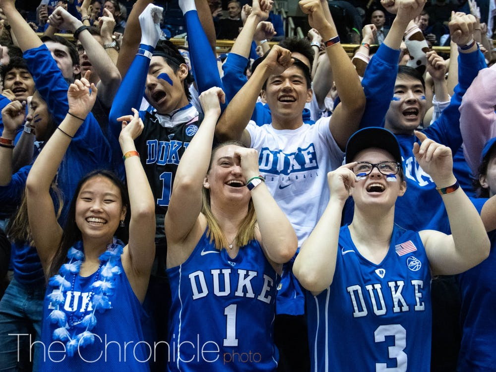 The Cameron Crazies were treated with a special surprise Monday.