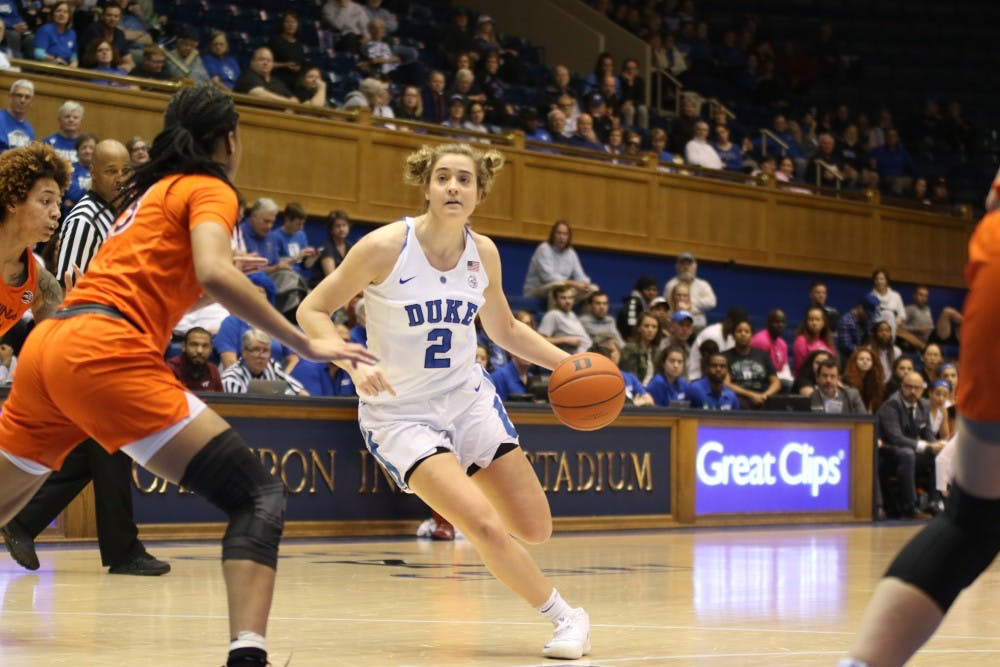 <p>Haley Gorecki returns for her senior season after leading the Blue Devils in scoring last year.</p>
