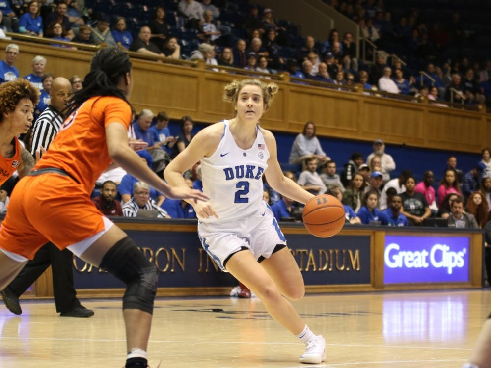 Haley Gorecki returns for her senior season after leading the Blue Devils in scoring last year.
