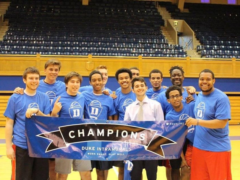 """R2Dubs"" recently won the intramural basketball B-league."