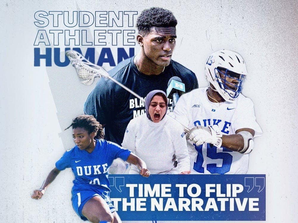 """<p>UNCUT, which plans to launch at Duke soon, aims to show who student-athletes are beyond their sport. Their slogan is """"Student. Athlete. Human.""""&nbsp;</p>"""