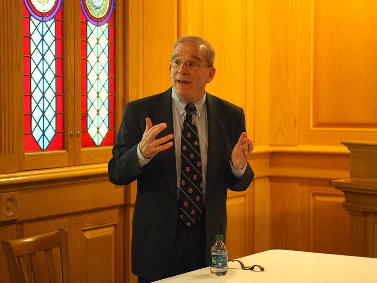 Steven David, vice dean for undergraduate education  and professor at Johns Hopkins University, spoke about the relationship between Israel and Iran in the Old Trinity Room Tuesday.