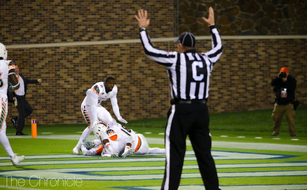 <p>Miami's game-winning kick-return touchdown began a cold stretch for Duke football.</p>