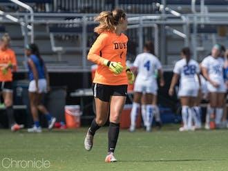 Redshirt sophomore Brooke Heinsohn has shined behind the net so far this season.