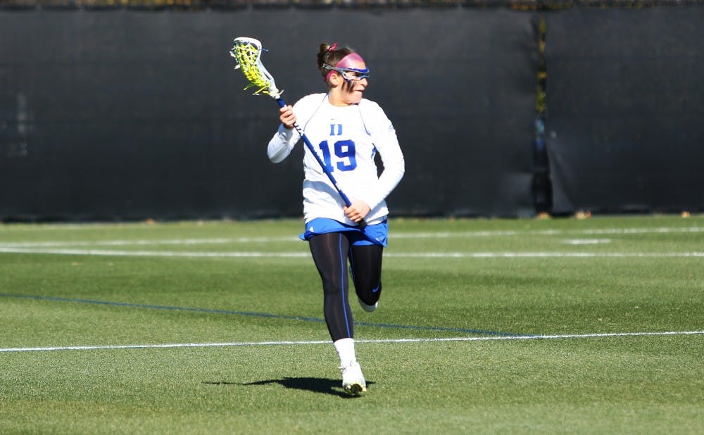 <p>Captain Claire Scarrone will help lead a young Blue Devil squad that lost most of its scoring from last year's Final Four team.</p>