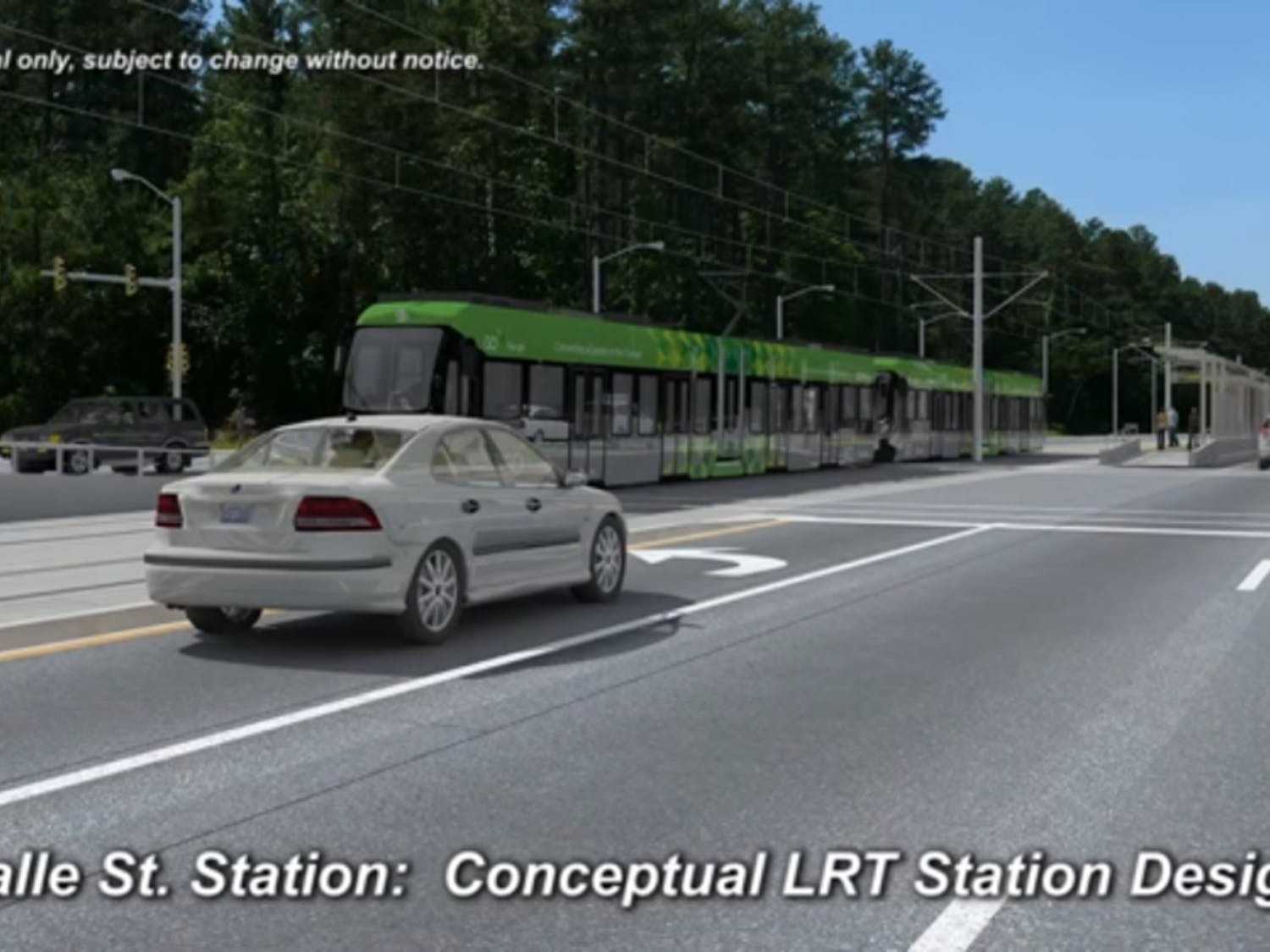 The proposed light rail would have a stopalong Lasalle Street andErwin Road near Duke Hospital.