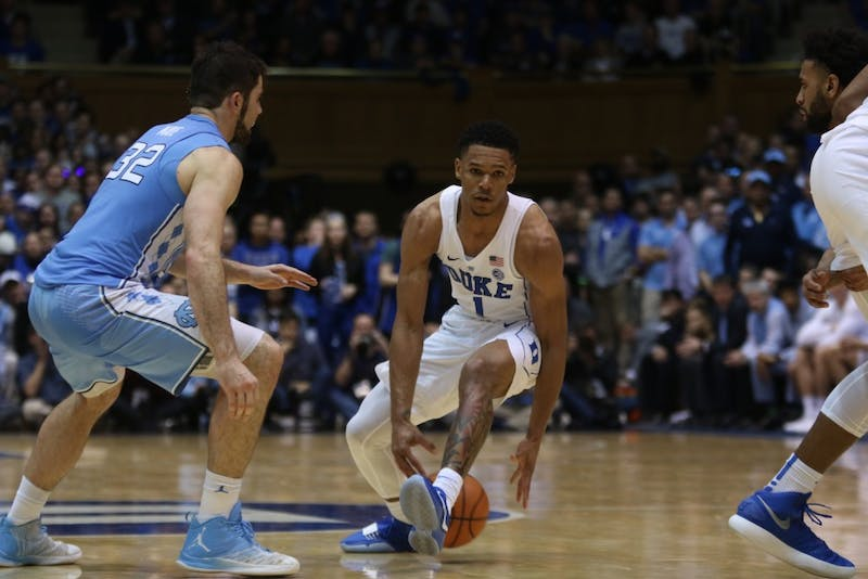 Freshman Trevon Duval will need to maintain the tempo for Duke's offense when he handles the ball this weekend.