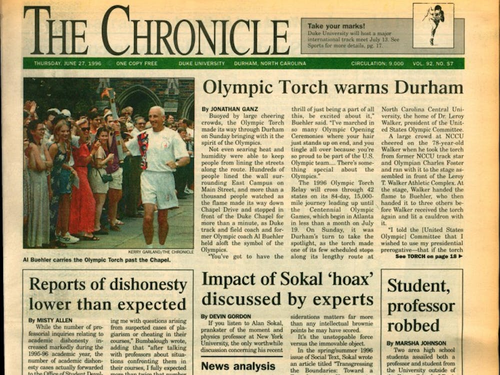 During its tour leading up to the 1996 Atlanta Summer Olympics, the torch made its way to Durham.