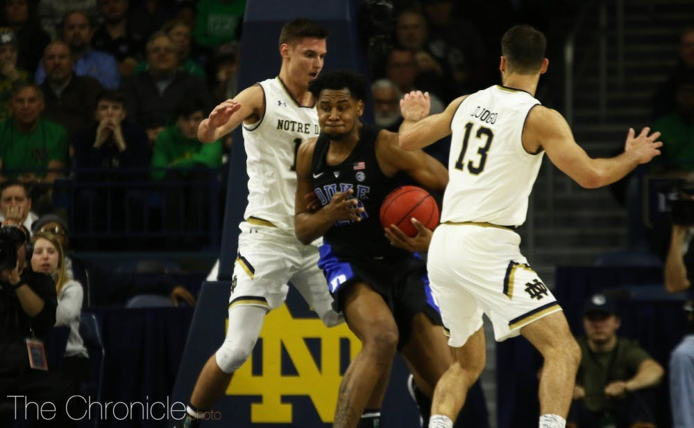 <p>Marques Bolden finished with eight points and seven boards Monday.</p>
