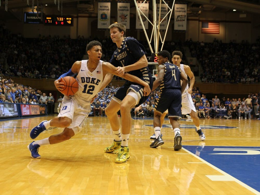 Freshman Derryck Thornton did most of his damage late but finished with 15 points and three triples.