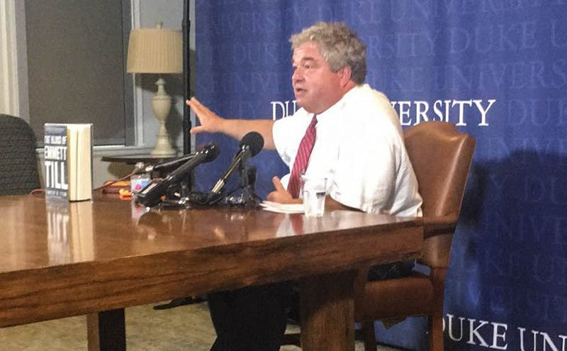 Tim Tyson at Duke press conference