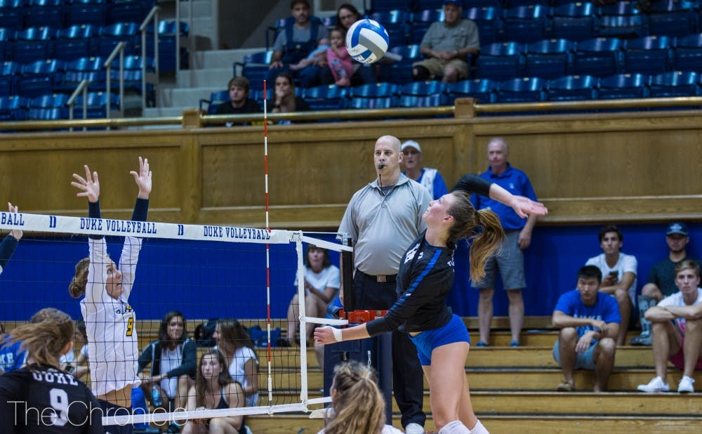 <p>Andie Shelton notched a triple-double against Southern Florida, the first for Duke since 2006.</p>