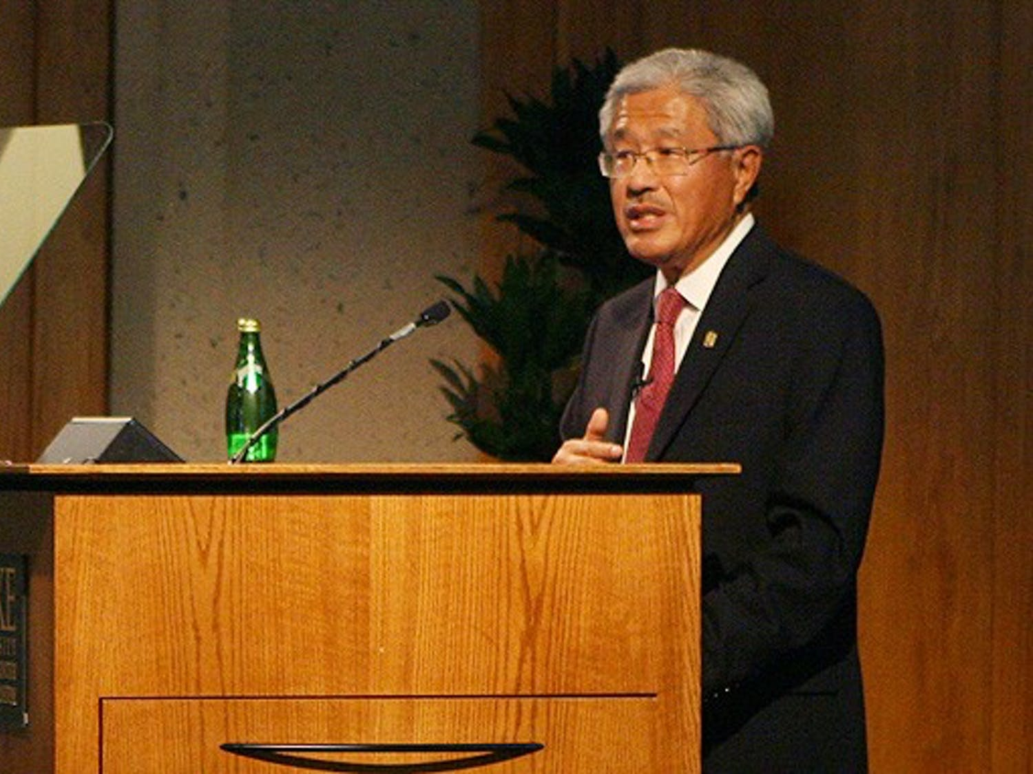 Dr. Victor Dzau, chancellor for health affairs and president and CEO of the Duke University Health System spoke on the state of Duke Medicine Monday.