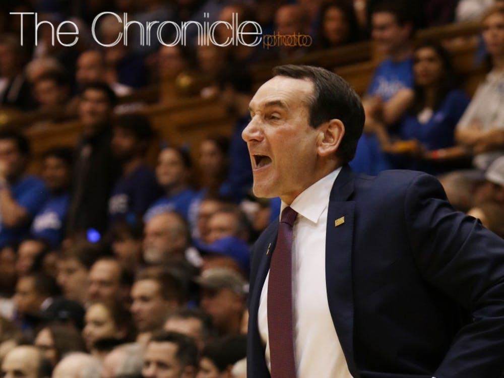 Duke head coach Mike Krzyzewski will return as the Blue Devils aim for their first three-game winning streak in ACC play.