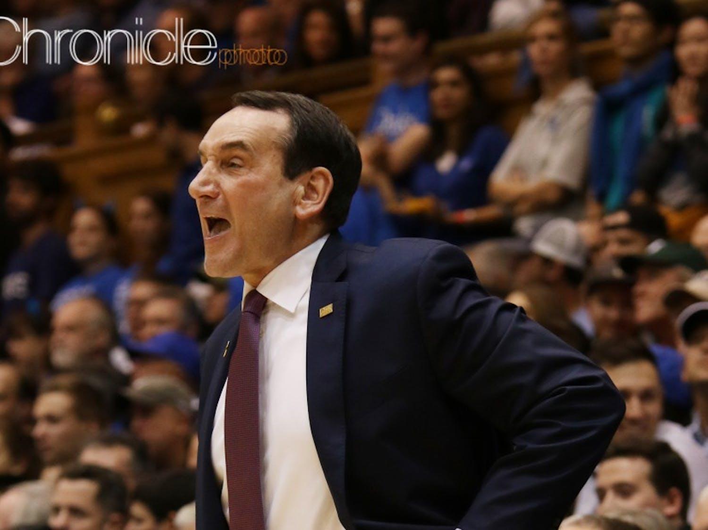 Duke head coach Mike Krzyzewski will return as the Blue Devils aim for their first three-game winning streak in ACC play.