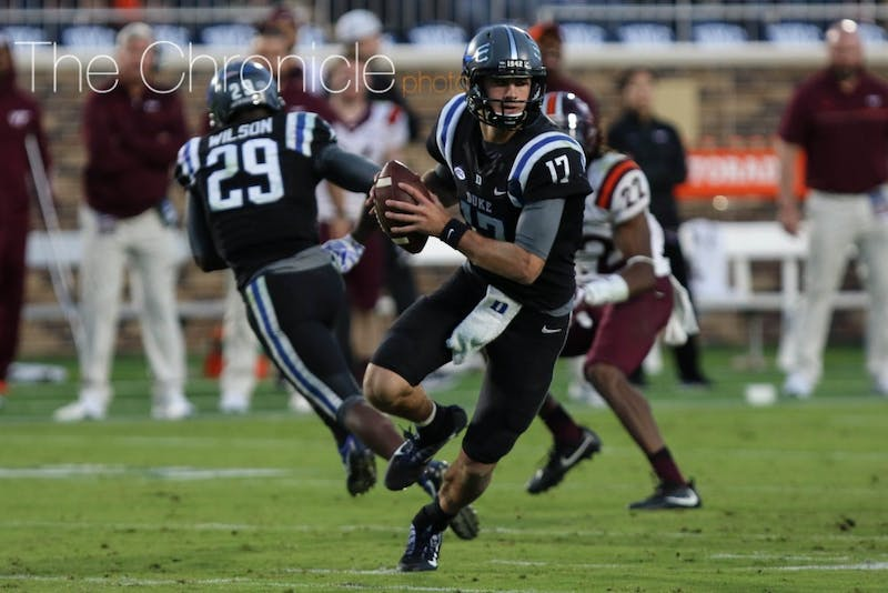 Daniel Jones has thrown 173 straight passes without an interception, the longest streak in the nation.