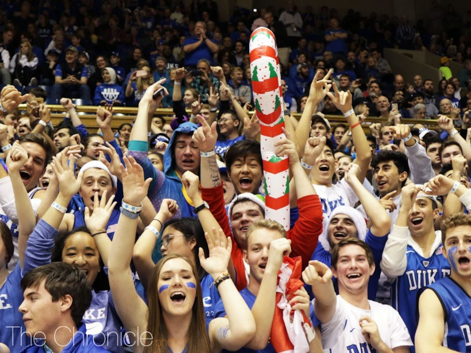 A capacity crowd of 9,314, including the ever-present Crazies, pack into Cameron for every game nowadays as Duke maintains its sellout streak.
