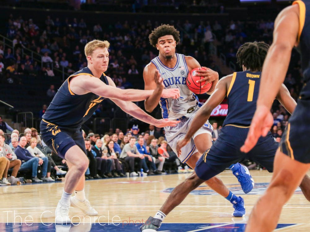 Duke came out on top of the California Golden Bears Thursday night with an 87-52 win at Madison Square Garden. Duke alumni RJ Barret and Marvin Bagley III were in attendance. Check out head photo editor Mary Helen Wood's best shots from the evening.