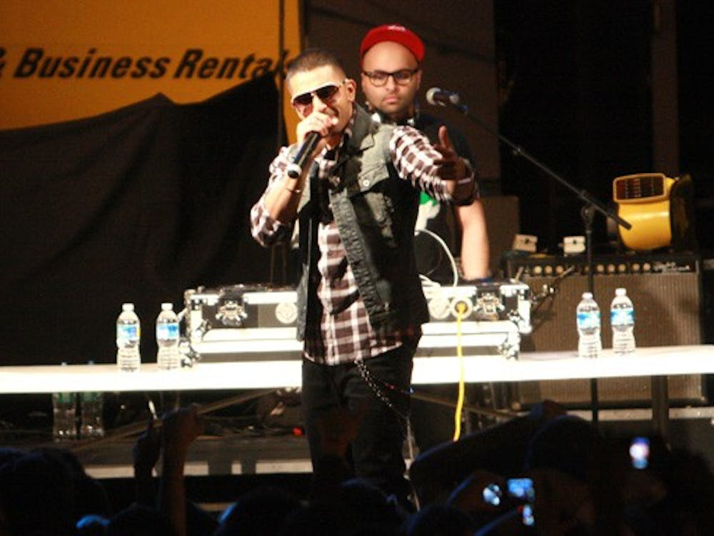 """Jay Sean performs at Wednesday's LDOC celebration. Though administrators commented on the amount of trash left on Main Quad by the end, Dean of Students Sue Wasiolek called this year's LDOC the """"best effort yet."""""""