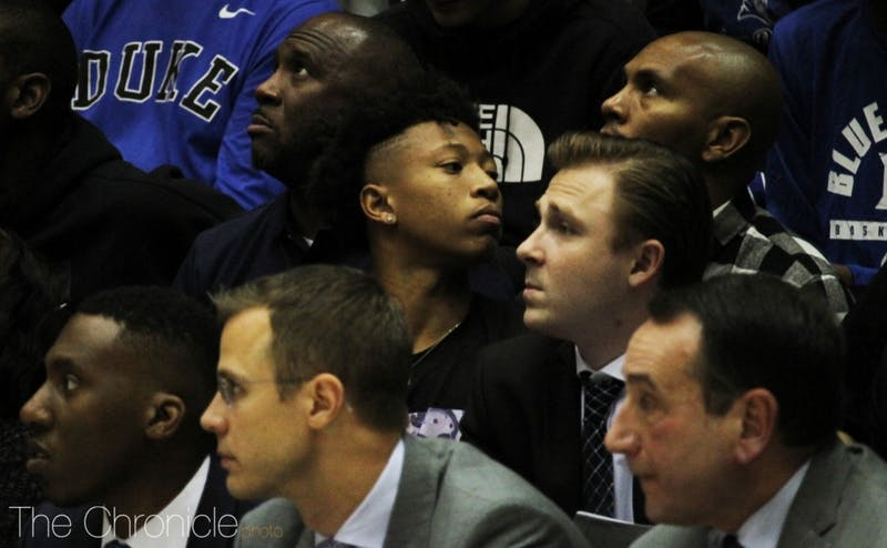 Boogie Ellis visited Duke for its exhibition matchup against Ferris State two weeks ago.
