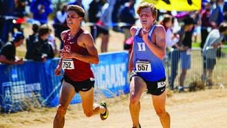 Senior co-captain Alex Miley led the way for the Blue Devil men, who surprised almost everybody en route to a 16th-place finish.
