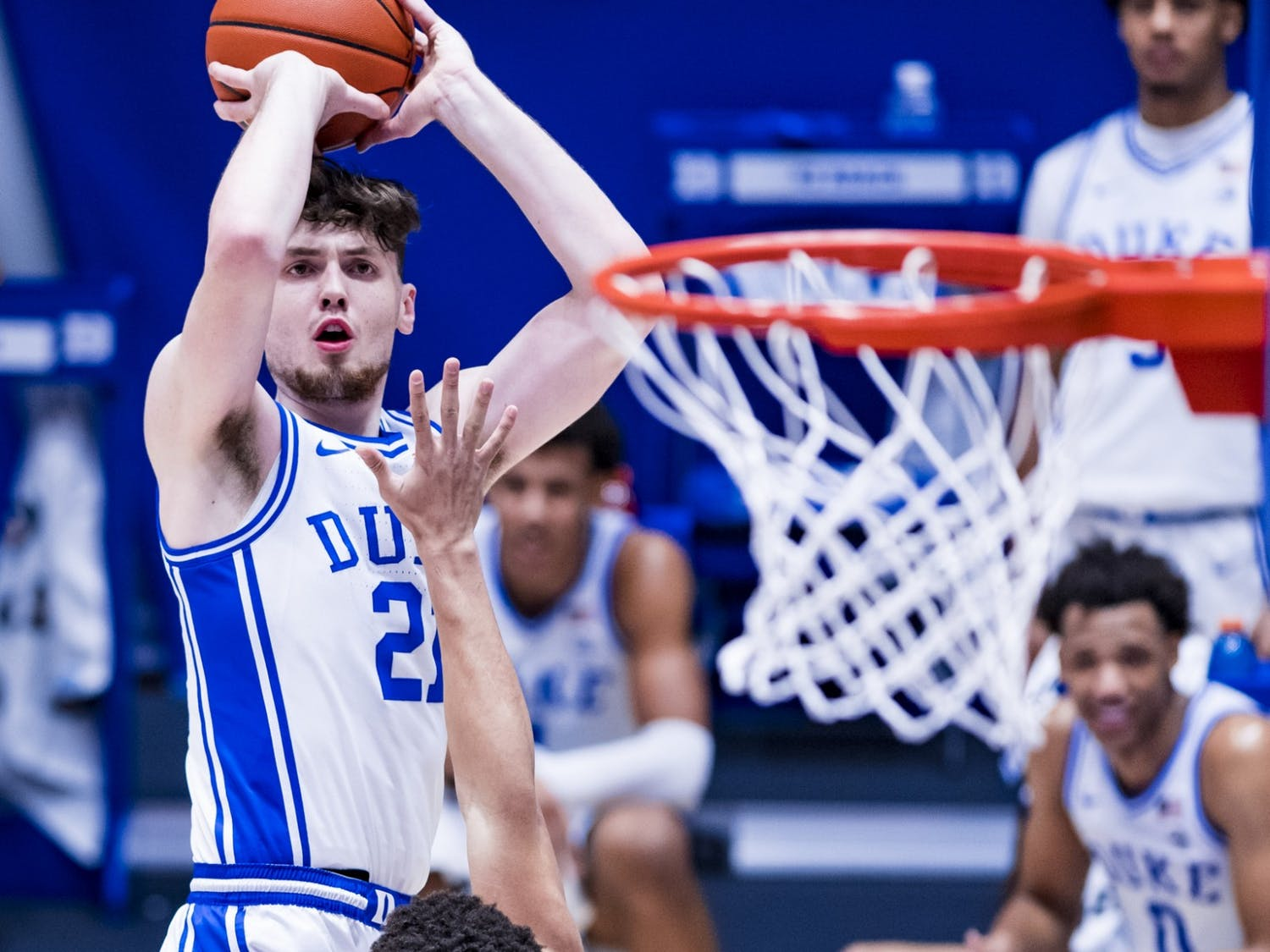 Led by Matthew Hurt's 13 points, the Blue Devils employed a balanced attack to blow out Clemson.