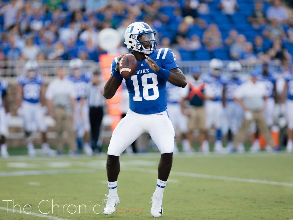 Quentin Harris continued to impress against Virginia Tech, completing 20-of-27 passes for 163 yards and two touchdowns
