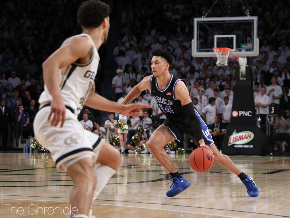 <p>Jordan Goldwire was the spark plug for Duke's offense in the first half.</p>