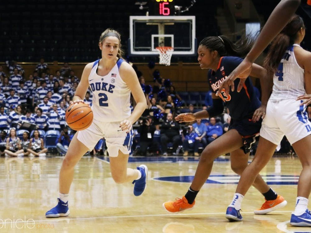 Haley Gorecki scored nine points during a 16-2 run that broke the game open in the third quarter and finished as Duke's leading scorer.