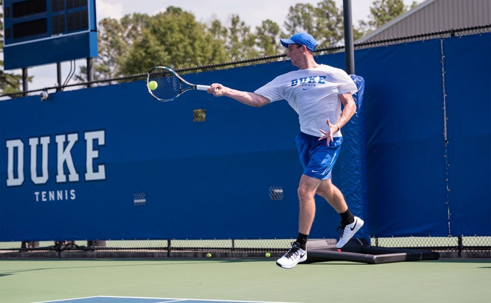 <p>Freshman Robert Levine won the first tournament of his career at the Dick Vitale clay court event in Florida this weekend.&nbsp;</p>